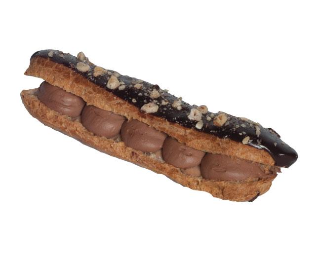 Choc Nut Eclair