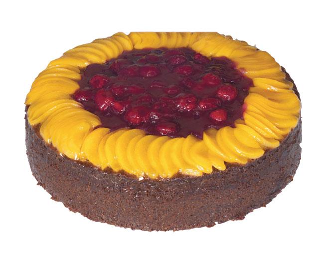 Peach & Raspberry Cake